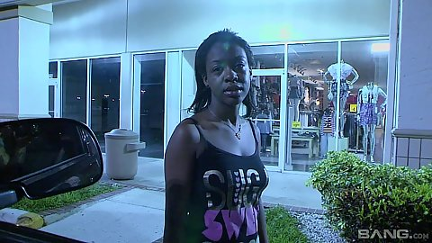 Ebony chick fully dressed in public picked up on the street Slim Goodies the nice hooker