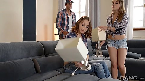 Alessandra Jane and Ariel Blue lovely skimpy ladies in great shorts and jeans