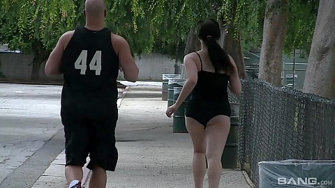 Delicious chunky bubble butt jogging outside and workout with Beverly Paige