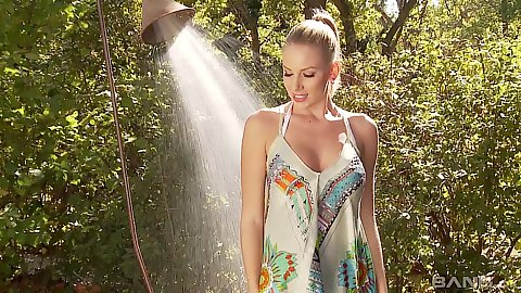 Danielle Maye glamcore solo wet and spicy shower and undressing