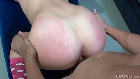 Keegan Chillz has a red ass from all the spanking during pov dogg sex
