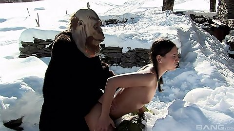 Sabrina Sweet gets nailed by secret yeti outdoors