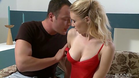 Great body medium sized boobies Clarissa touched and caressed