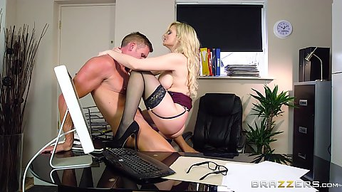 Katy Jayne is the office whore milf called in IT guy to help her with drilling her cable holes