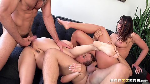 Adriana Chechik and Alexis Fawx pussy plowing 2 on 1 action