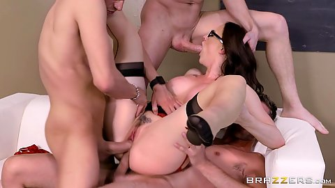 All holes filled big tits milf Chanel Preston gets nailed in sex lessons