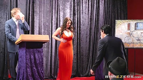 Dazzling Angela White doing a sex auction
