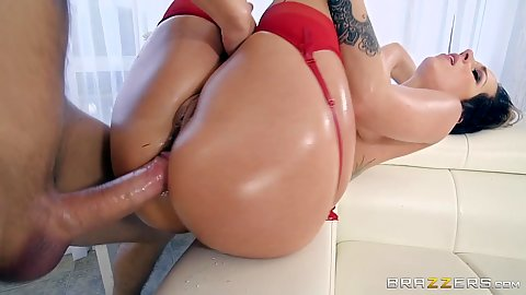 Frontal raised legs oiled up body valentines cupid intercourse with Jada Stevens