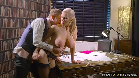 Bankrupt and fucking office milf Rebecca Moore