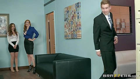 Office new girl gets initiated Lauren Phillips and Lena Paul