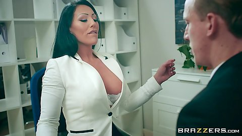 Candi Kayne shows too much cleavage at work