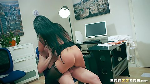 Office chair cock riding with experienced milf whore s1