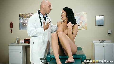 Busty milf gets eaten by doctor during check up Reagan Foxx