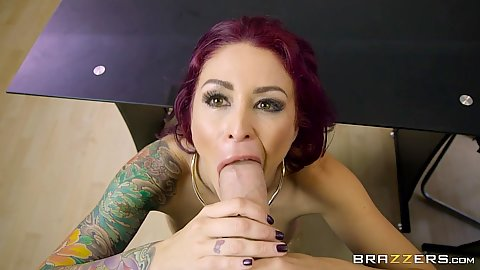 Pov large dick blowjob and doggy fuck with Monique Alexander working the sales office