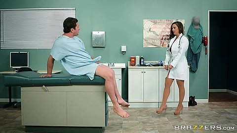 Doctor and patient Abigail Mac giving titty fuck