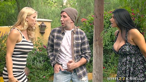 Romi Rain and Alexis Fawx run into a pervert in the park
