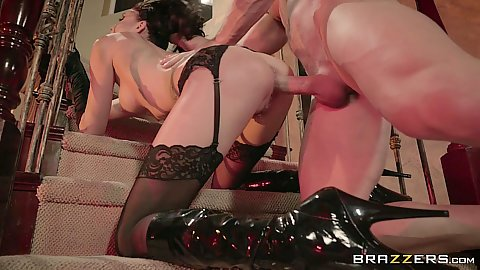 Nailed from behind for halloween with dicked Ariana Marie