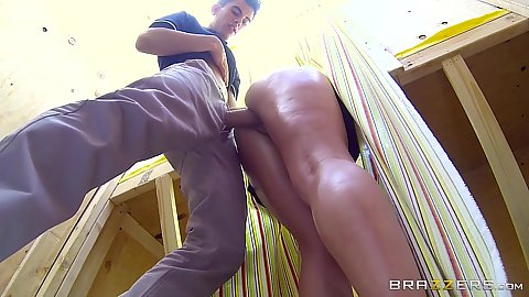 Fucking in bent over position trying to sell some lemonade Kristina Rose
