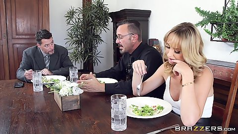 Brett Rossi is sitting at the dinner table dreaming of dick