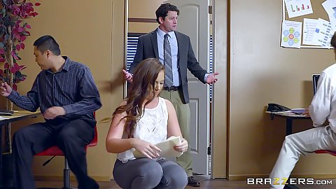 Redhead Maddy Oreilly about to get screwed in office