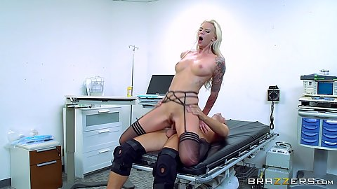 Patient with constant hardon fucked by doctor Brooke Brand