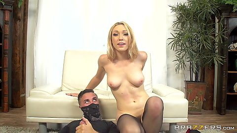 Medium boobs confident Lily Labeau gets back on dick for humping