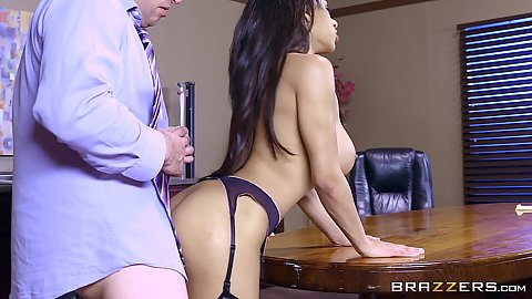 Sexy latina executive needs rear end tapping in office Priya Price