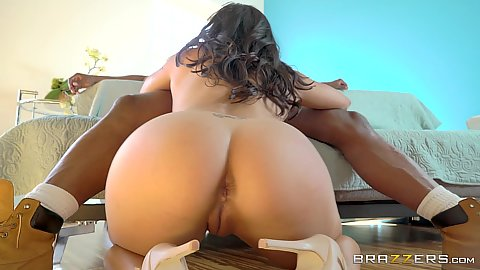 Anxious Mia Li giving oral to hard black dick and ride