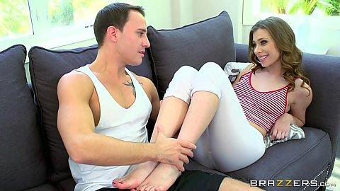 Sex feet with great leggings stepsister Anya Olsen