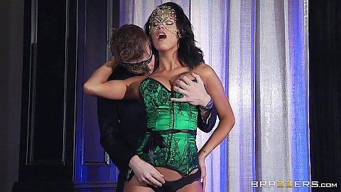 Fingering lingerie masquerade girl Peta Jensen