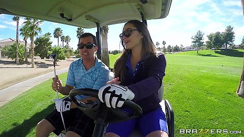 Dani Daniels going golfing outdoors