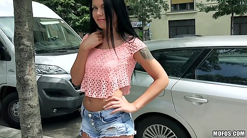 Super cutie Russian euro girl Sofia Like approached on street