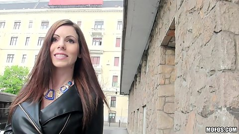 Knockout Hungarian babe Tiffany Shine approached on public street