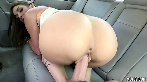 Tiny boobs college girl fucked by some guy she doesnt know in back seat Kirsten Lee