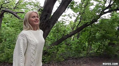 Blondie Aisha going to suck some dick outdoors