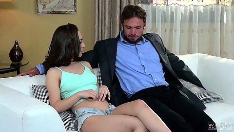 Lily Jordan and Laura Bentley in brunette and blonde sharing dirty cheating man