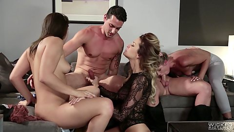 Supreme office orgy sex with various skanks like Scarlet Red and Abella Danger and jessica drake