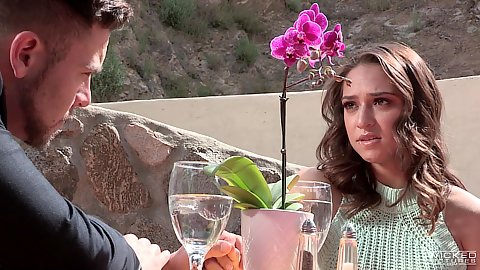 Enjoying a romantic dinner Cassidy Klein then reunited sex