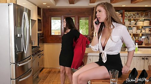Lena Paul and Cassidy Klein in my friend is glued to the phone
