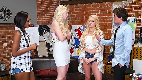 Group of ladies gathered artists Samantha Rone
