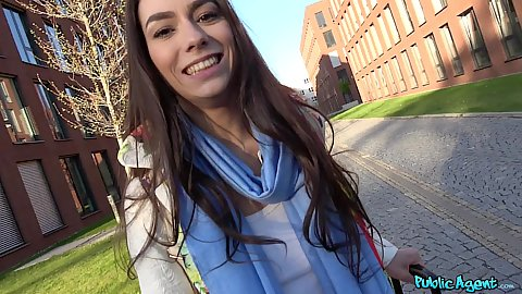 Inviting public euro Russian slut Arwen Gold flashes boobies on the street