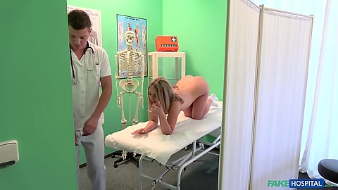 Daniella Margot and Nesty in doctors office suck and fuck