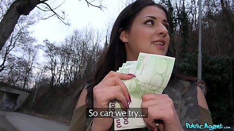 Serbian chick Coco De Mal gets paid to accept cock fuck in pov in public
