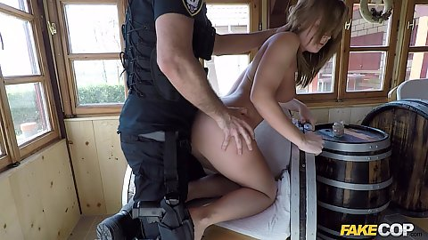 Fucked from behind by a dirty cop Cara Wolf