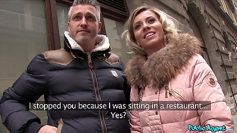 Vicky Love and her man approached by our casting agent on the street for cash