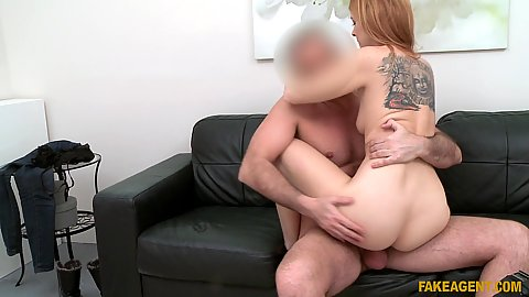 Nice sex with Spanish redhead casting girl Irina Vega
