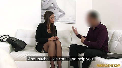 Milf Ellie Springlare comes in to casting couch