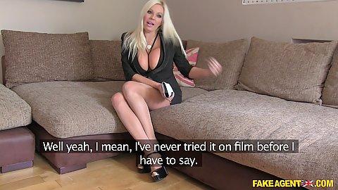 Busty blonde milf with revealing cleavage Michelle Thorne