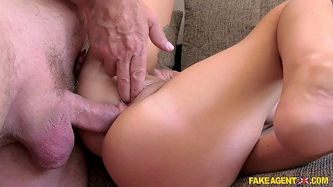 Fingering 21 year old Emma Louise vagina and nailing her in the ass at the same time