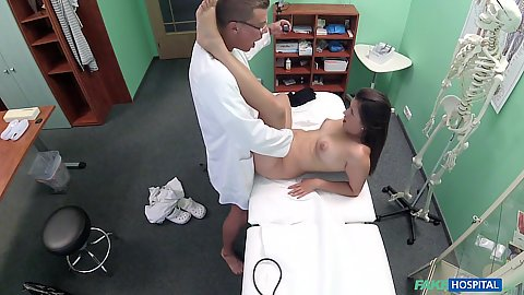 Cindy Loarn getting her snatch fuck checked by doc on hidden cam